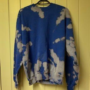 Hanes unisex acid wash crewneck hoodie